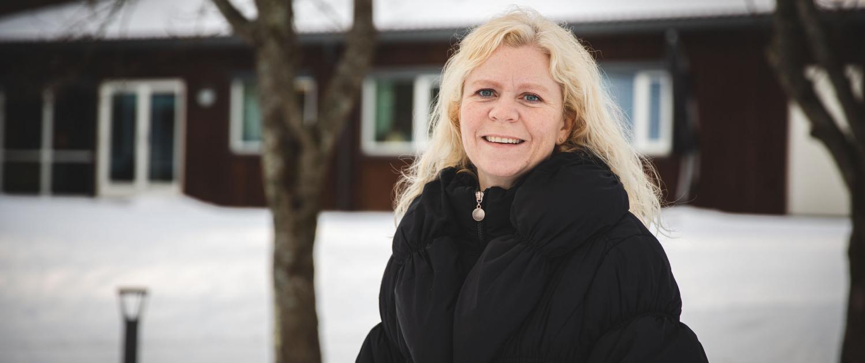 Else Marie Klever ved Hvittingfoss hjemmetjeneste